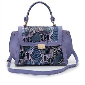 Leather Snakeskin Satchel